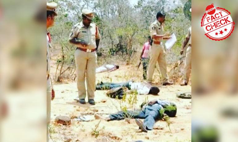 हैदराबाद एनकाउंटर: न्यूज़ चैनलों ने 2015 की तस्वीर का इस्तेमाल करके दी ग़लत सुचना