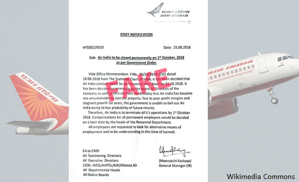 air-india-fake-letter