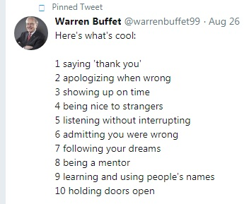 tweet warren buffet