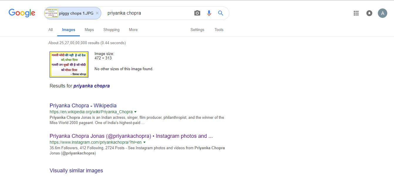 Priyanka chopra google search