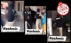 Featured image for Fake claim of kashmiri police beating women