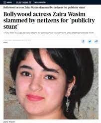 Zaira Wasim-Gulf News