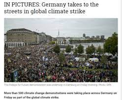 German news article on Climate change protest