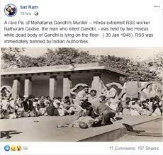 Fake-Facebook post about Gandhi's murder